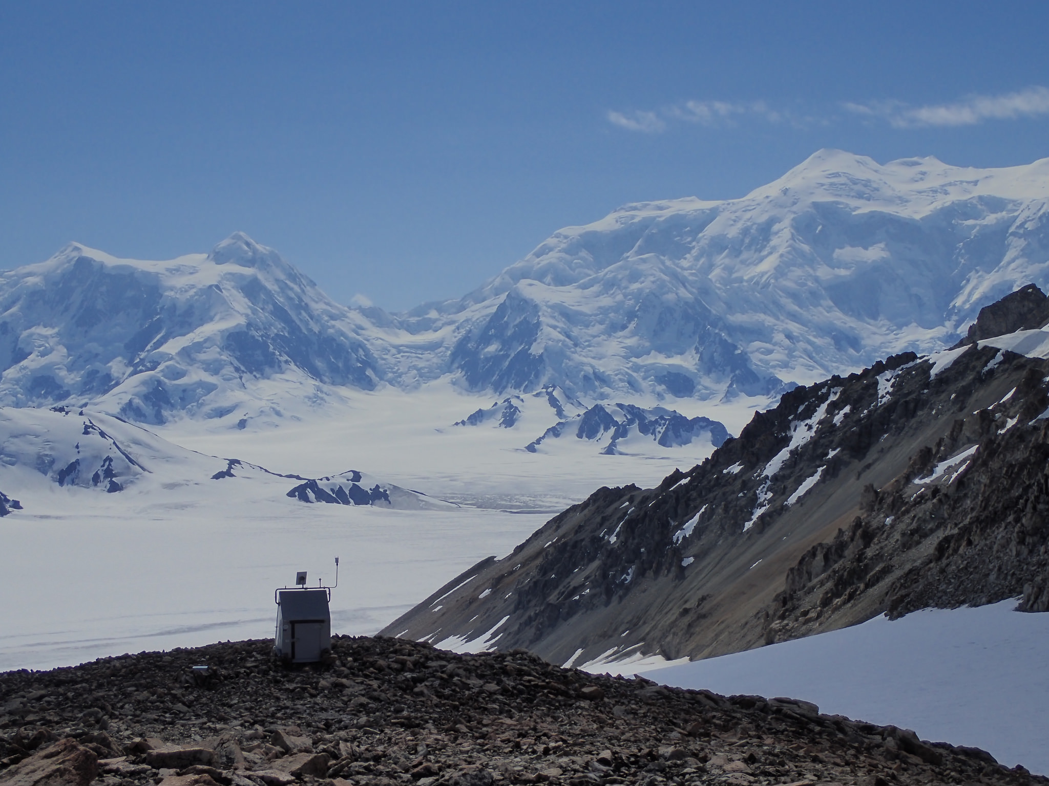A seismic station sits on Mount Upton, in Canada's Yukon.