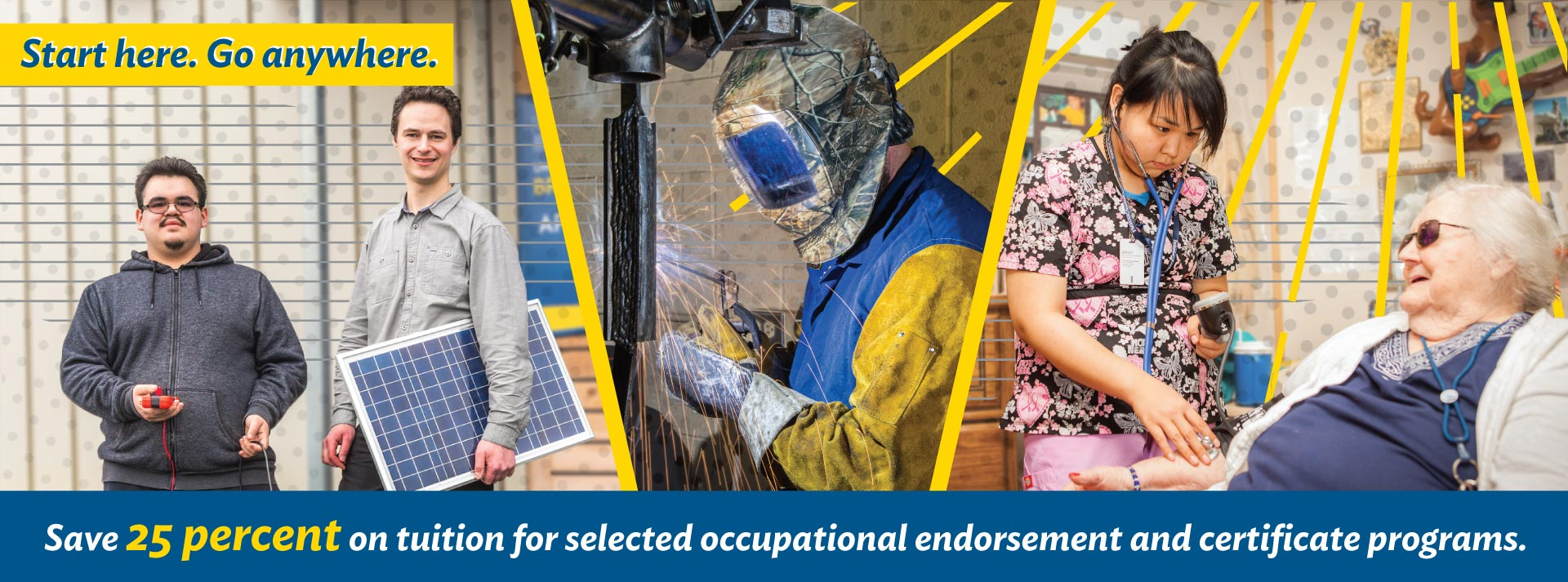 Collage of UAF students in occupational endorsement programs