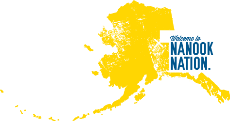 Map of Alaska with the superimposed words, Welcome to Nanook Nation