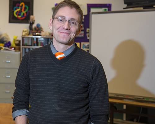 "UAF alum Chris Benshoof, a math teacher at Lathrop High School in Fairbanks, was named ""Teacher of the Year"" for 2012 by the Association of Alaska School Boards."