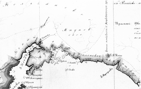 Detail from Verman's 1863 map (Krauss 2006)