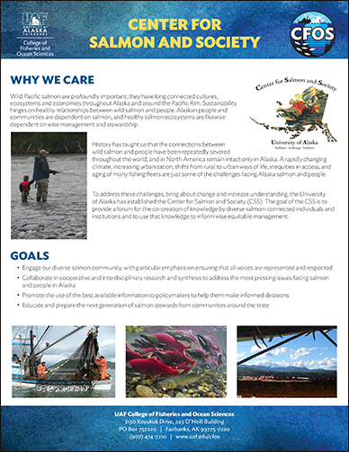CFOS Center for Salmon and Society Flyer
