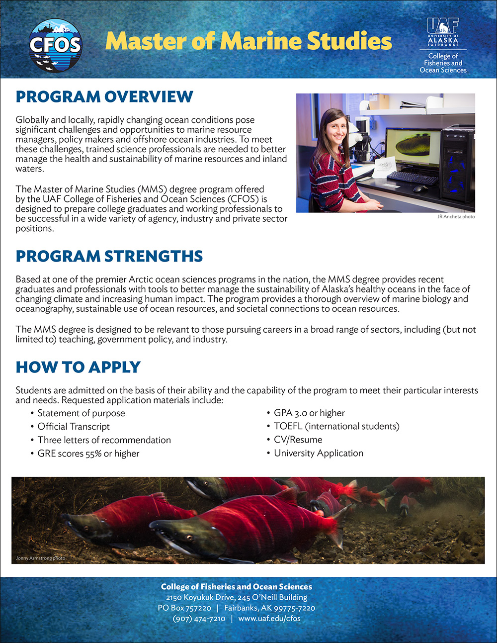 Master of Marine Studies flyer