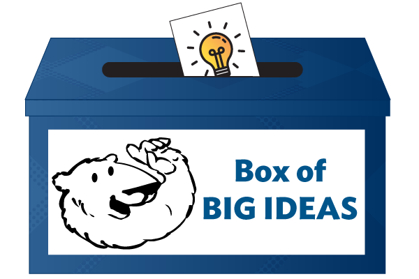Graphic of a suggestion box