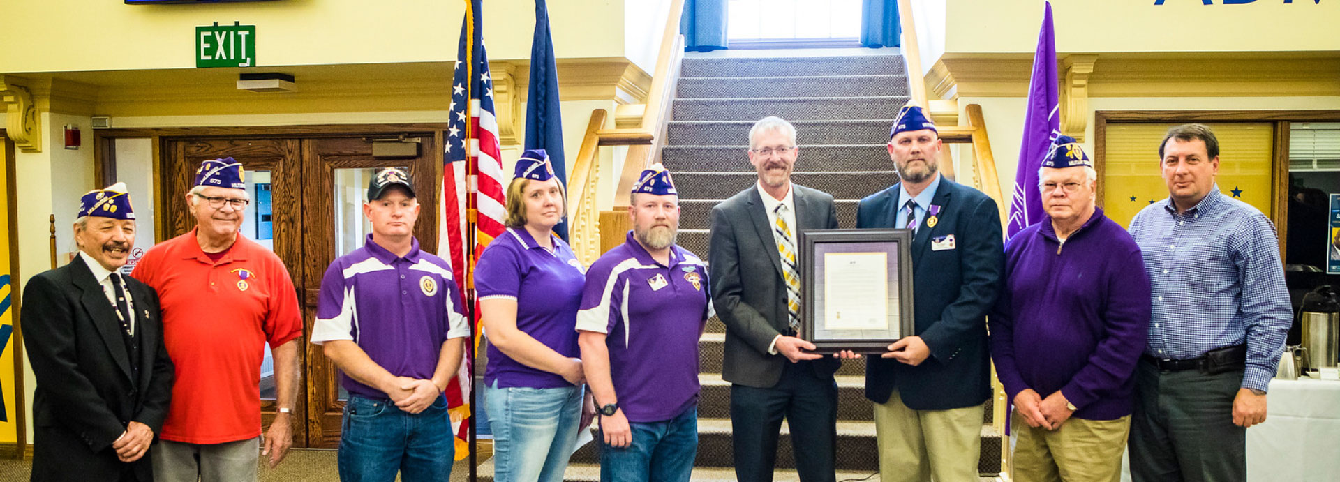 Chancellor White celebrates UAFs designation as a Purple Heart campus with student veterans