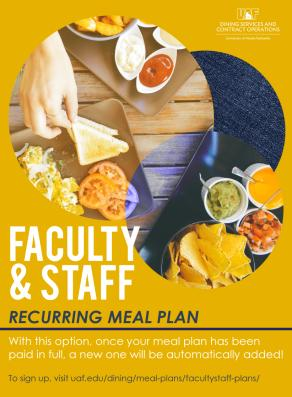 Faculty & Staff meal plan graphic