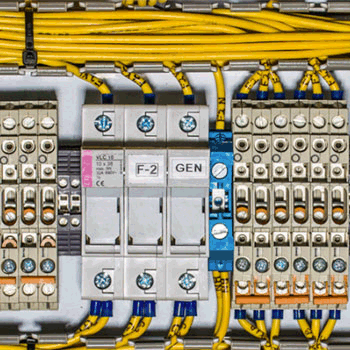 A test circuit board being utilized at the Alaska Center for Energy and Power