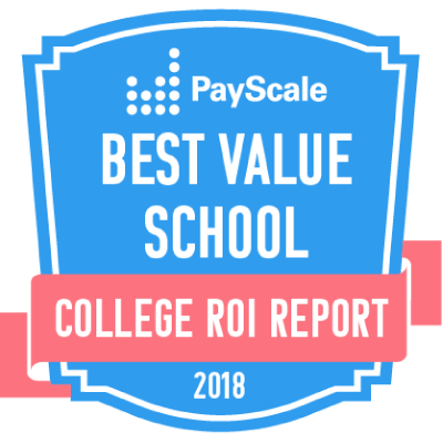 PayScale Best Value School badge