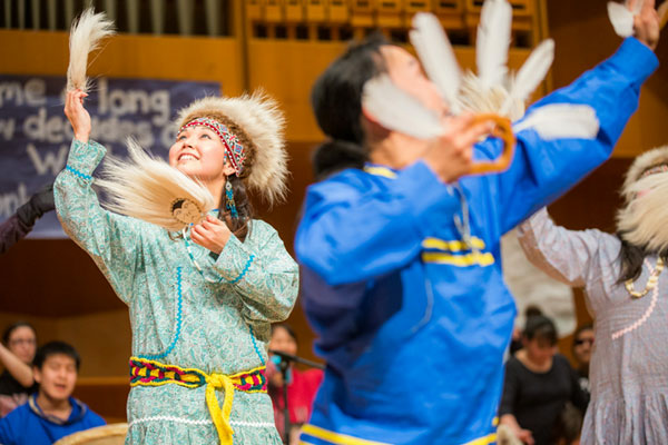 Dancers perform at the Festival of Native Arts