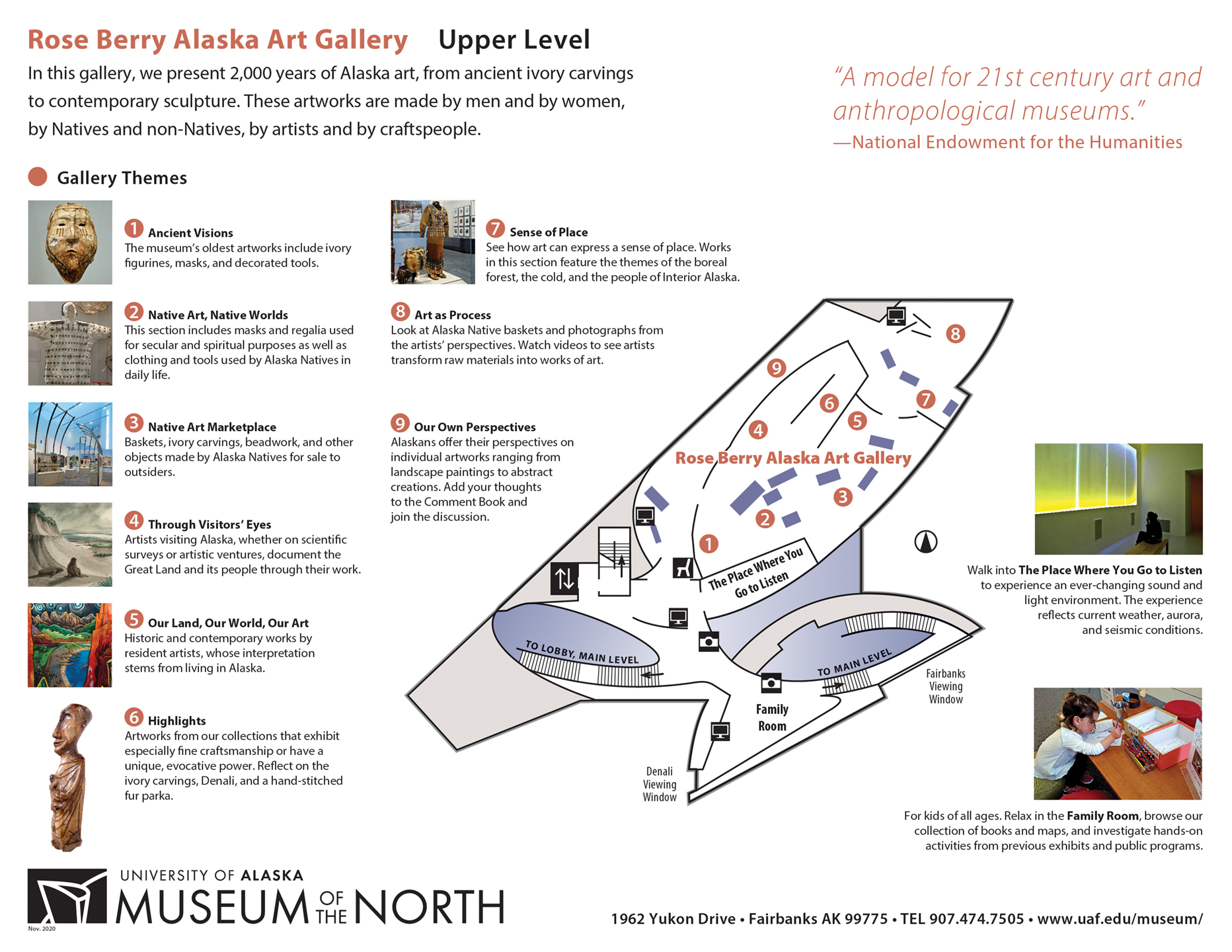 Upper Level Gallery Floor Plan