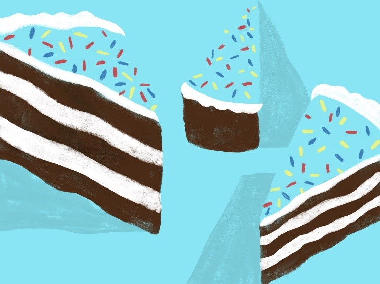 graphic image of cake slices