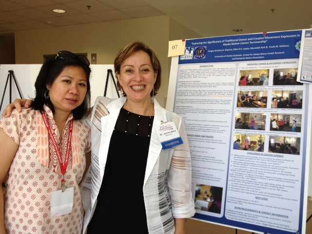 Grad student Dinghy Sharma with mentor Dr. Stacciarini. University of Florida.
