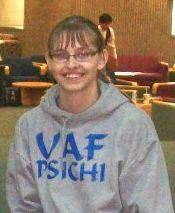 UAF Psi Chi President, Ashley Strauch