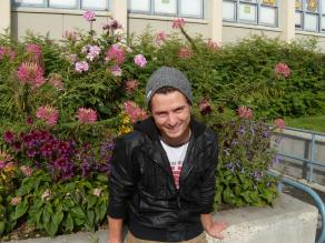 Graduate student, Tyler Hoyt is inspired to help others with a friendly smile. 9.2013