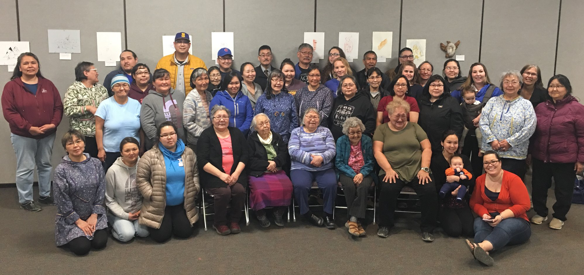 Rural Human Services (RHS) and Human Service (HUMS) AAS students celebrate with their instructional Elders