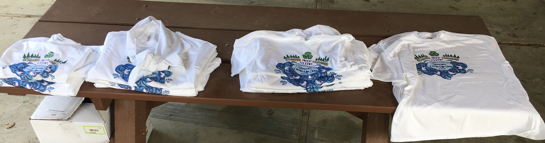 Tshirts from Cleanup Chena day