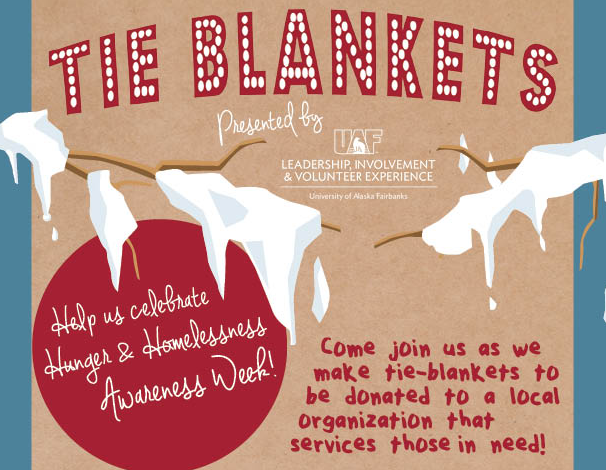Hunger and Homlessness Awareness Week - Tie-blanket making event