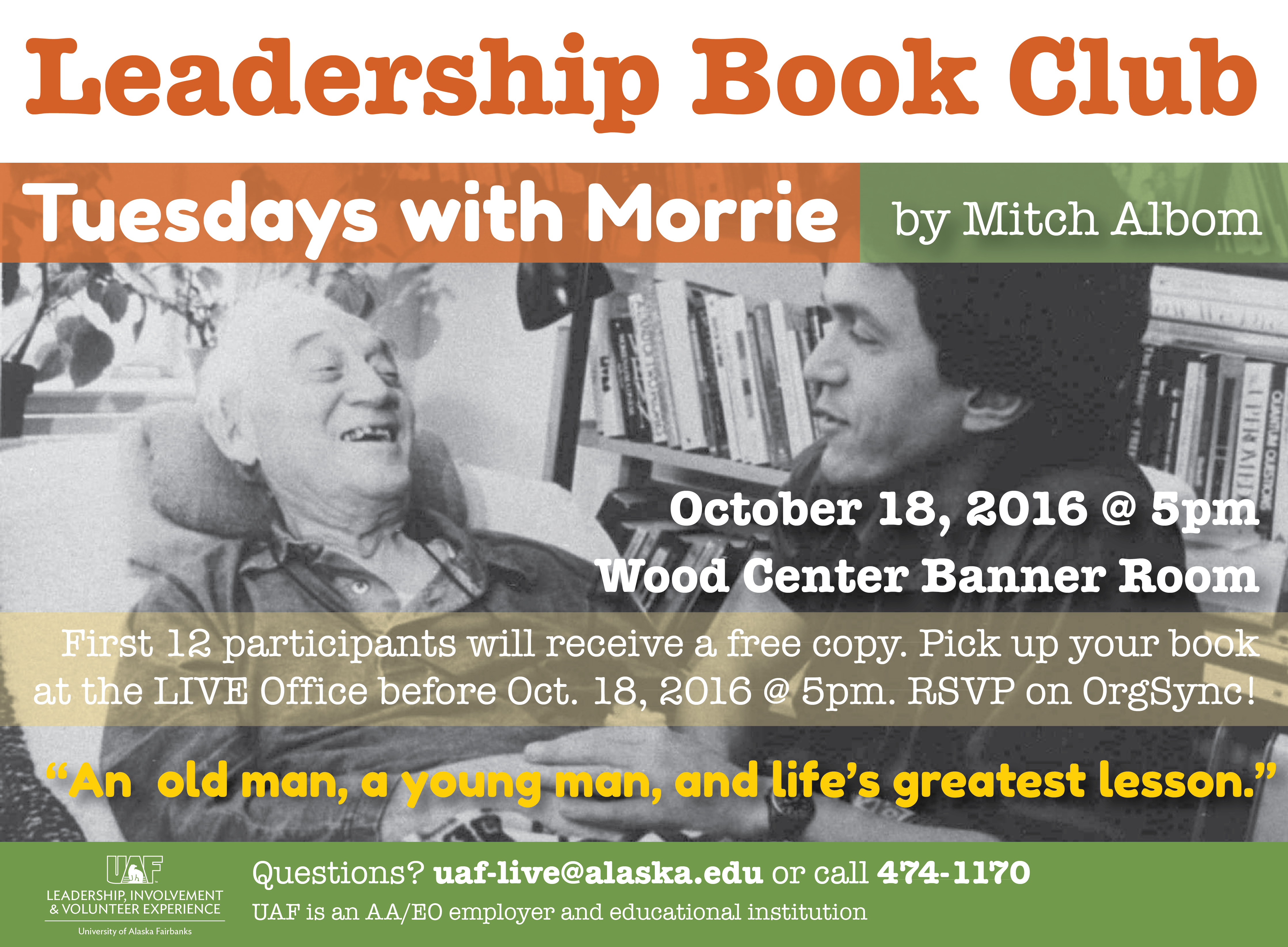 Leadership Book Club - Tuesdays with Morrie