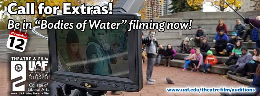 "Extras needed for ""Bodies of Water"" - filming now!"