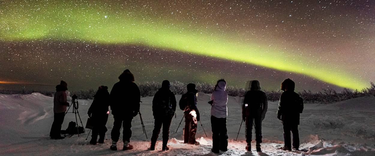 UAF students photograph the aurora