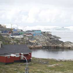 Ilulissat, known as the city of icebergs sits adjacent to Greenland's Ilulissat Glacier