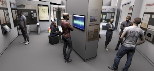 Rendering of virtual exhibit