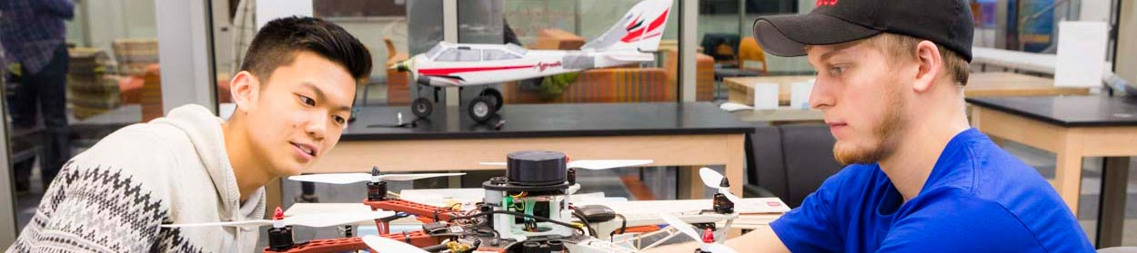 Two UAF students build an unmanned aerial vehicle