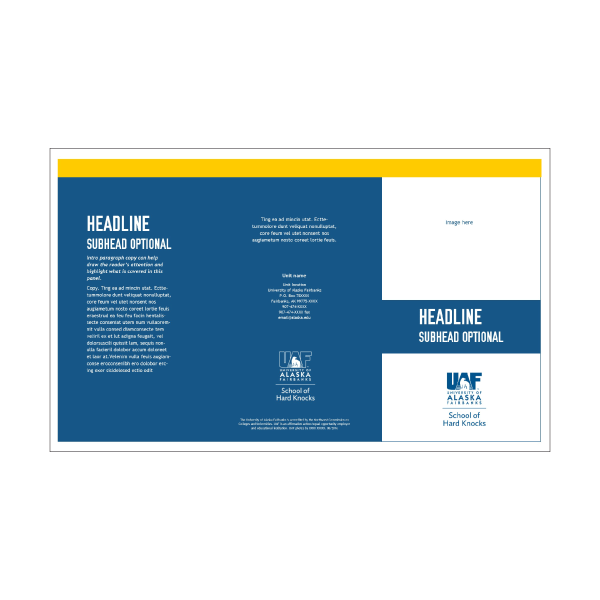 Publisher legal-sized tri-fold brochure 1