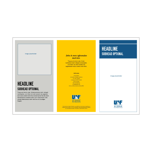 Publisher legal-sized tri-fold brochure 2