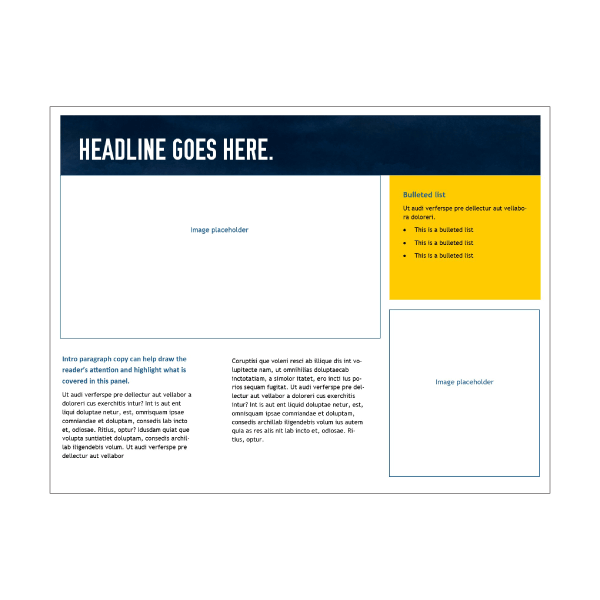 Publisher letter-sized tri-fold brochure 1