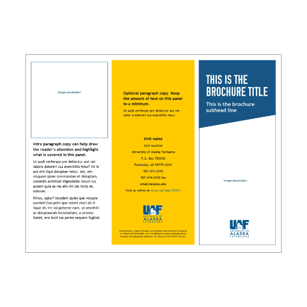Publisher letter-sized tri-fold brochure 2