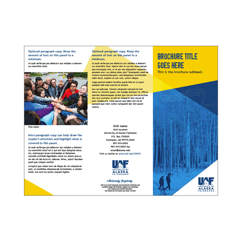 InDesign tri-fold brochure 3
